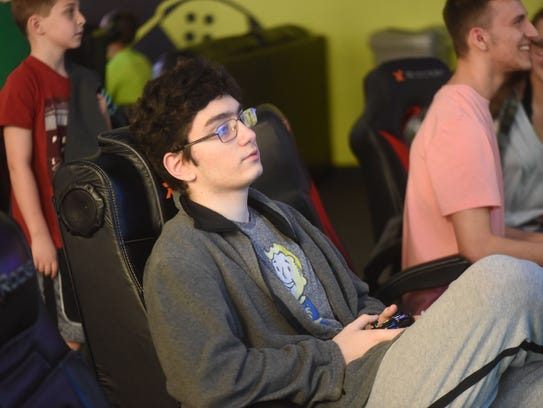 Casey Klapisch playing Fortnite at Gamers Paradise in River Vale.