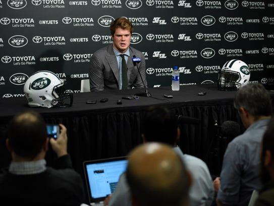 Jets first-round draft pick Sam Darnold at Atlantic
