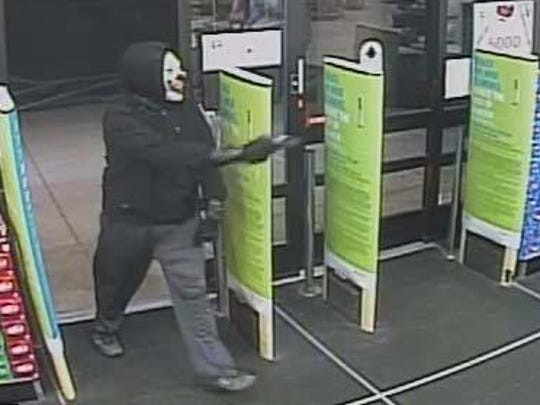 A clown-masked robber hit a Walgreens in Brownstown
