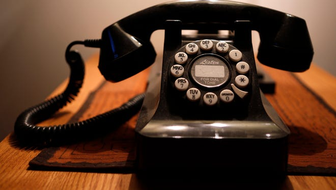A push-button landline telephone, in Whitefield, Maine. According to a U.S. government survey released Thursday, May 4, 2017, homes and apartments with only cellphone service exceeded 50 percent for the first time, reaching 50.8 percent for the last six months of 2016.