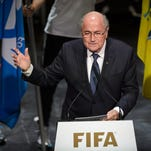 FIFA President Sepp Blatter addresses the opening ceremony of the FIFA Congress in Zurich on Thursday.