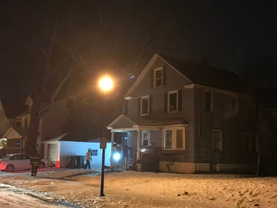 35 Hooker Street, site of a fatal fire in Rochester, Tuesday night.