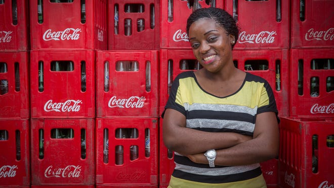 Lilian Kessy is one of the female entrepreneurs in Africa Coca-Cola invited into a program where she gets business training, and Coke gets better distribution in the territory.