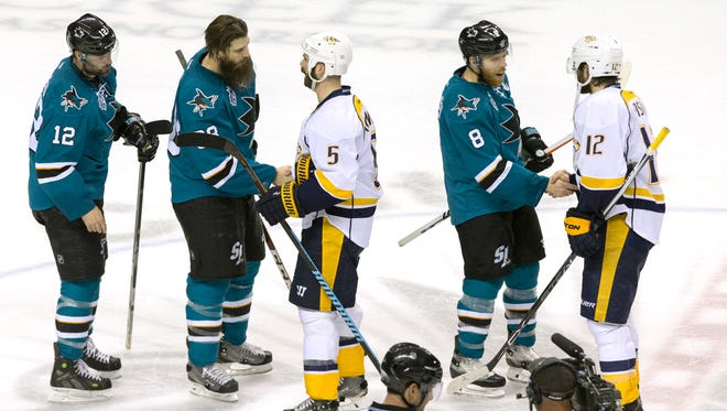 The Sharks eliminated the Predators in seven games in their second-round series.