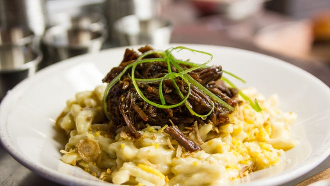 Short rib mac and cheese from Tela Bar and Kitchen in Wyoming.