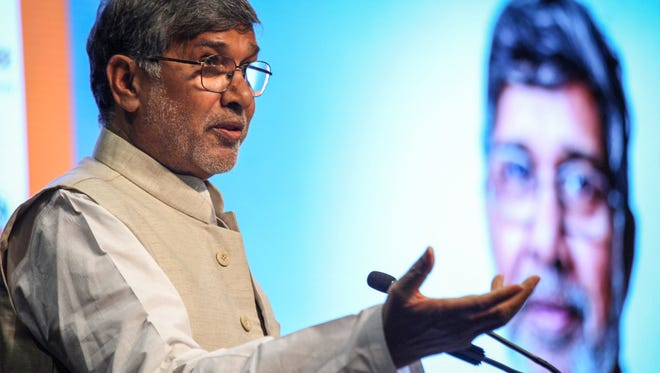 On Friday, Nobel Peace Prize recipient, Kailash Satyarthi delivered a public talk at PeaceJam Southeast's Youth Leadership Conference.