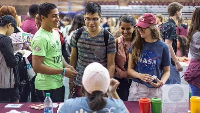 Hundreds of students attended the Involvement Fair to learn more about organizations on campus.