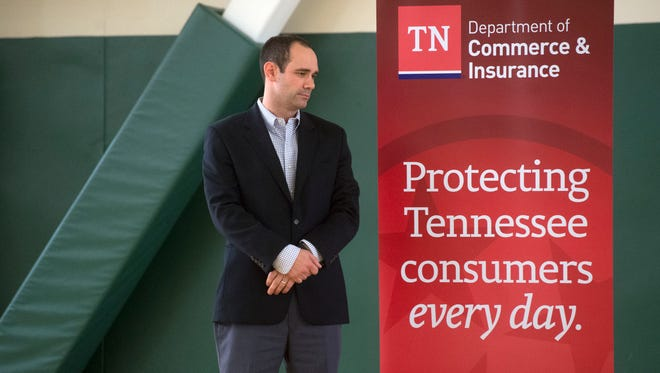 Michael Humphreys, assistant commissioner for insurance in the state Department of Commerce & Insurance, took complaints or questions  from Gatlinburg fire victims.