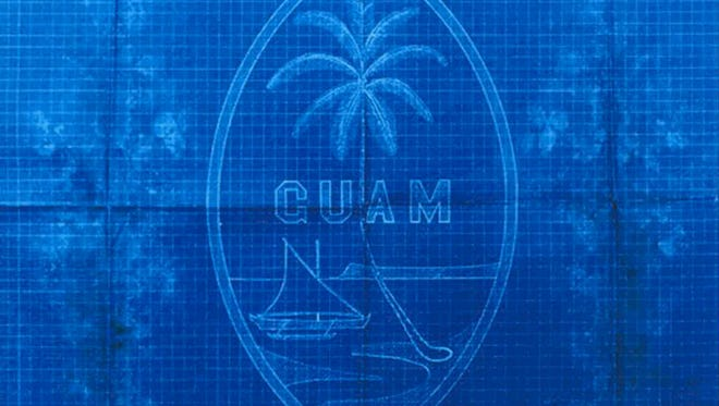 The blueprint shows a design developed by Helen Paul of what would become Guam's seal. The blueprint is kept at the Micronesian Area Research Center at the University of Guam. In 1930, under Gov. Willis Bradley Jr., the Guam seal, which took its design from Paul's drawing, became official. Photo courtesy of the Office of Guam's lieutenant governor.