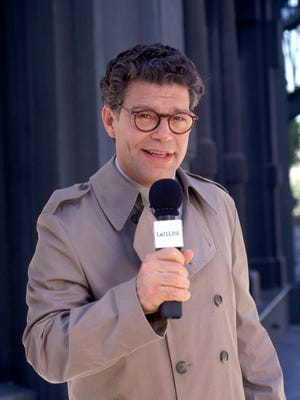 "Al Franken, funnyman-turned-U.S. senator, poses in this undated publicity photo made for his NBC sitcom ""Lateline."""