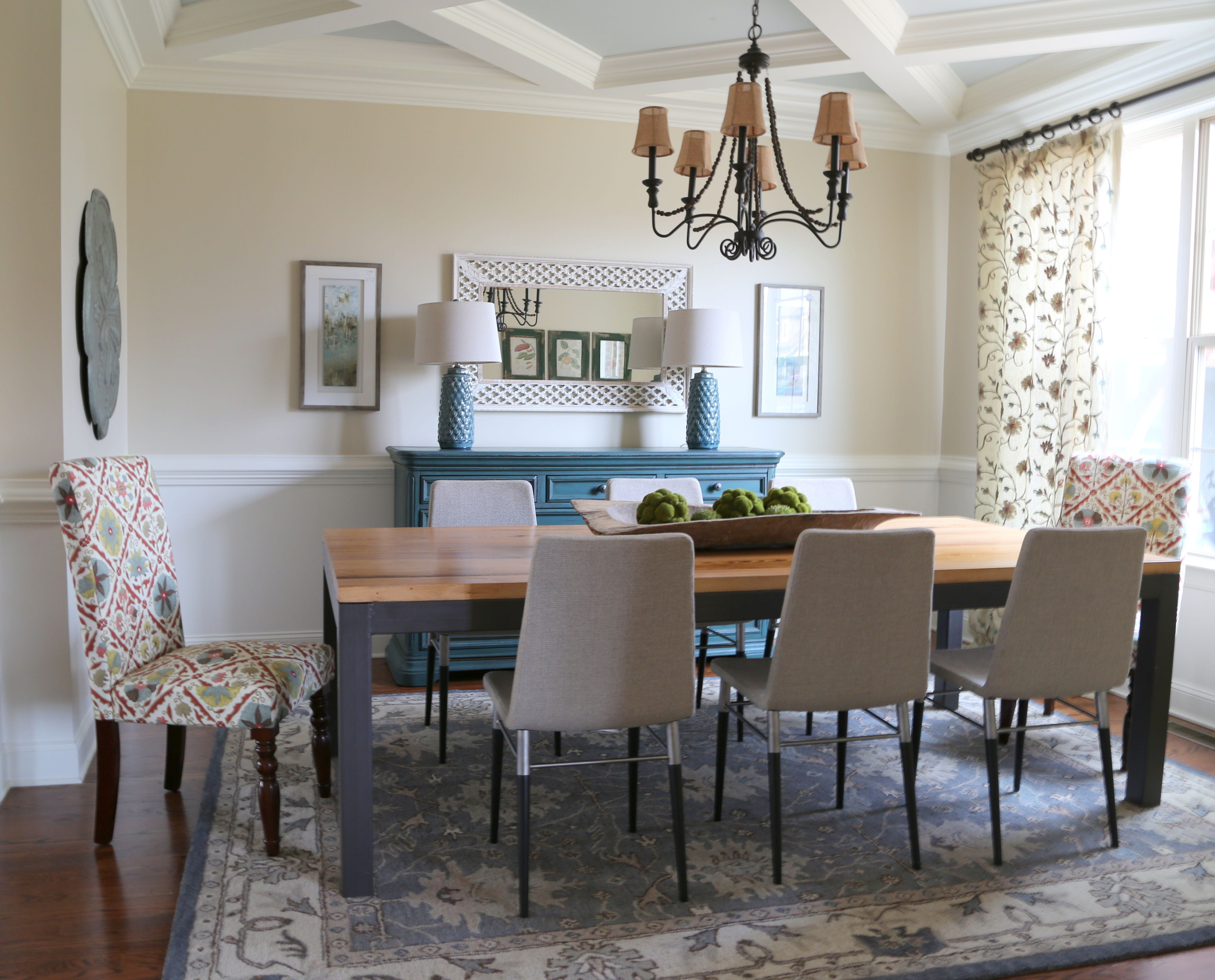 ... A Table And Matching Chairs For The Dining Room. Unmatched But  Coordinating Pieces Create A More Casual Feel. Table From Merridian Home  Furnishings, ...