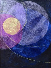"""Cindy Chenard created this work for Moonlight Becomes You"""" at Red House Gallery."""