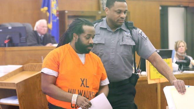 Jermarro Dantzler appears in court for sentencing in front of Judge Jeffrey A. Wagner on charges of child sexual assault.