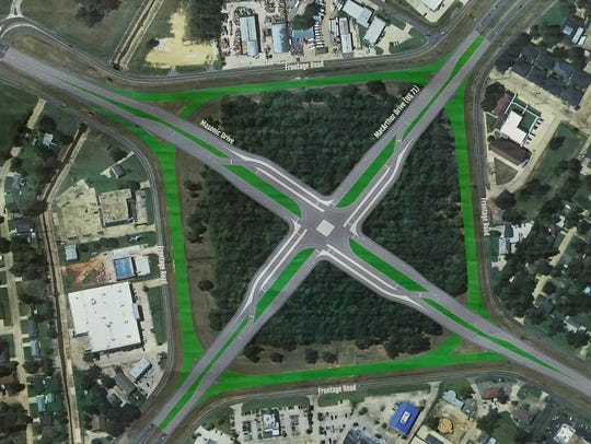Option three for replacing the South Traffic Circle