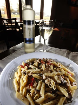 The penne alla Sophia with chicken was a popular dish at Sam & Gabe's.