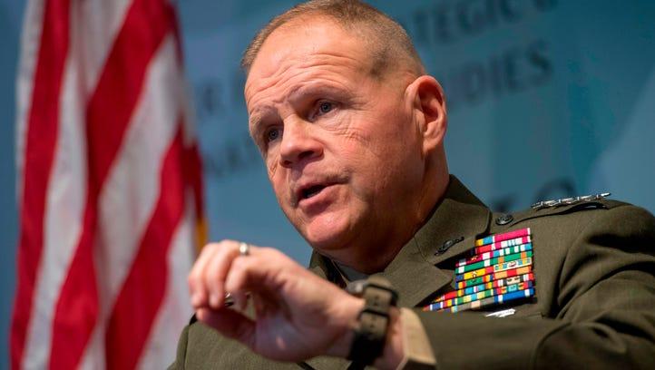 US Marine Corps Commandant General Robert Neller speaks