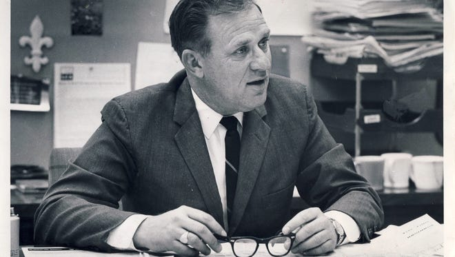 J. Douglas Nunn, urban affairs editor at the Courier-Journal, is shown in 1966.