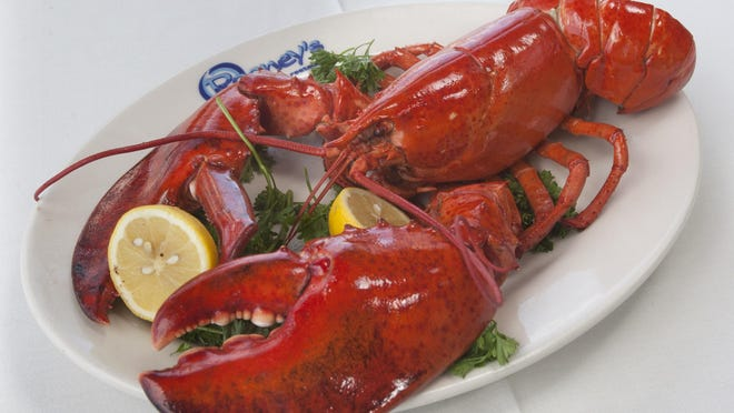 A steamed lobster at Rooney's Oceanfront Restaurant in Long Branch.