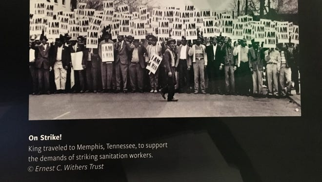 A photo of striking sanitation workers in Memphis is one of the nearly 40,000 artifacts in the collection of the National Museum of African American History and Culture in Washington.