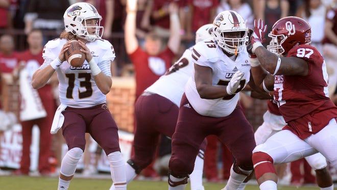 Louisiana Monroe junior quarterback Garrett Smith (13) hopes to lead his team to a massive upset over heavily-favored Florida State at Doak Campbell Stadium.