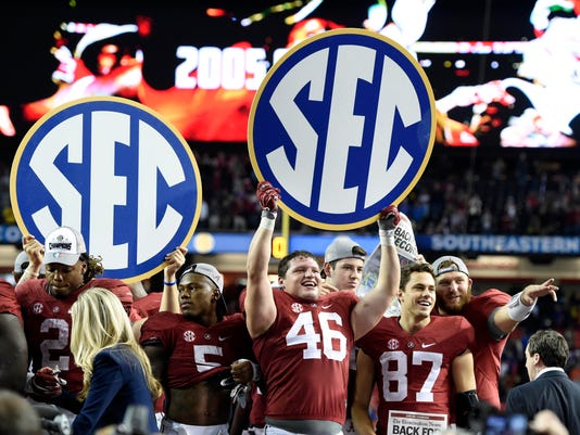NCAA Football: SEC Championship-Florida vs Alabama