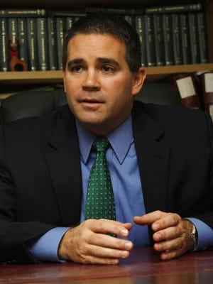 Pictured is Belmar Mayor Matt Doherty.