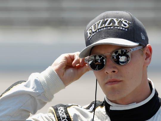 Josef Newgarden looks on during Verizon IndyCar Series