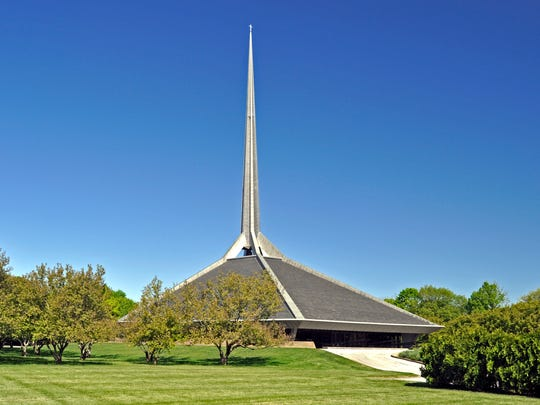 The Saarinen-designed North Christian Church in Columbus