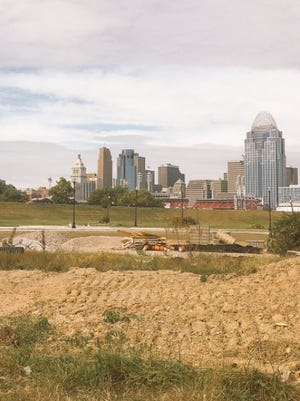 A look at the 13-acre Ovation site, along the riverfront in Newport.