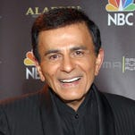Casey Kasem poses Oct. 27, 2003,  after receiving the Radio Icon award during the 2003 Radio Music Awards at the Aladdin Resort and Casino in Las Vegas. Kasem died June 15, 2014.