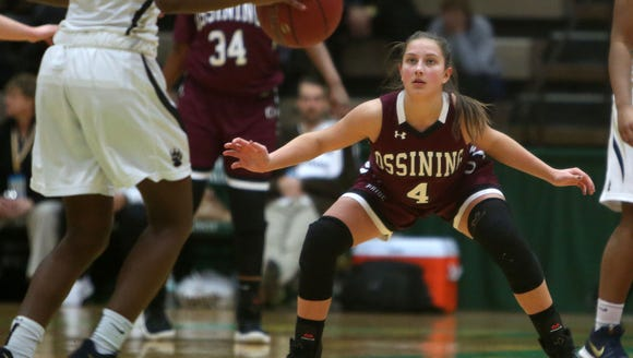 Baldwin defeated Ossining 87-60 in the girls Class