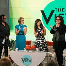 From left whoopi goldberg nicolle wallace rosie perez and rosie o