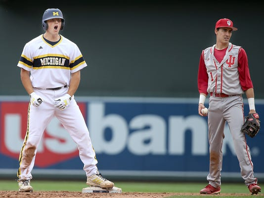 Michigan wins over Indiana 4-1 during Big Ten baseball