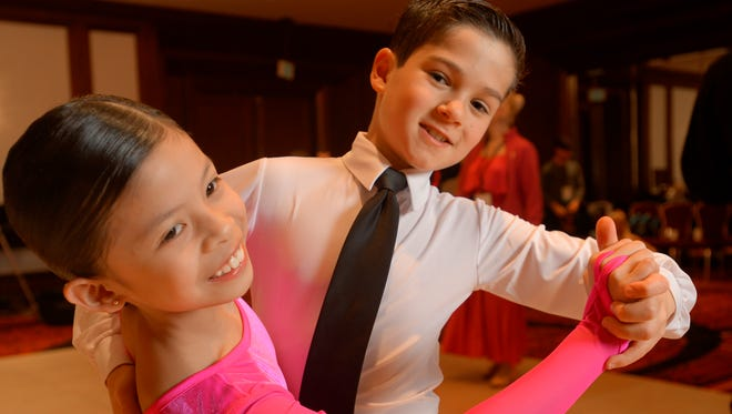 Ballroom dancing has seen an increase in the number of children competing.  One young dance couple, Jhailyn Farcon, 9, and Joshua Ginzburg, 10, provide a glimpse of what it takes to compete in a national ballroom competition.