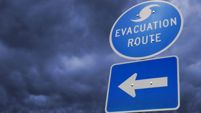 Five towns have issued coastal evacuation notices.
