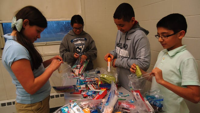 As a missions project, Cumberland Christian middle school students collected personal hygiene items and loose change to help some orphaned children in Haiti.
