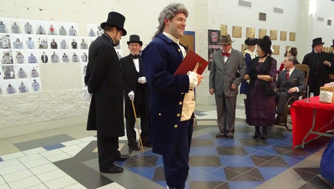 Zane Urquhart played president Thomas Jefferson at the Marion County Historical Society's Dinner with the Presidents event.