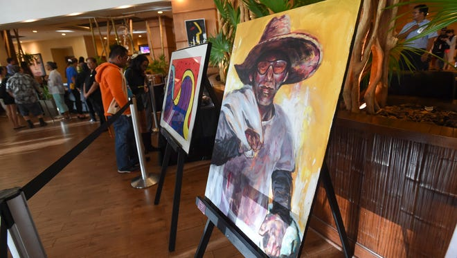 Exhibits by the Chamorro Artists Association are displayed during the Biba Mes Chamoru Opening Ceremony at Outrigger Guam Beach Resort in Tumon on March 2, 2018.