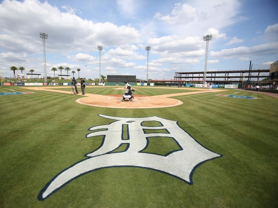As the Tigers train at Joker Marchant Stadium, the