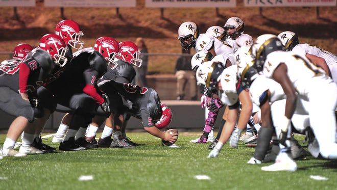 Greg Johnston (44) has made an area-best 15 sacks for the Roberson defense.
