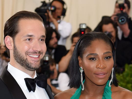 Serena Williams and husband Alexis Ohanian, seen here at a New York City gala on May 1, 2017. Pensacola's Dewayne Crocker Jr. sang at the tennis legend's wedding Thursday, Nov. 16, 2017.