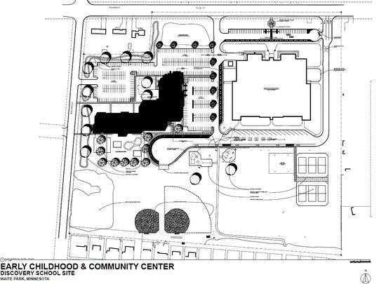 A drawing shows the St. Cloud school district's proposed