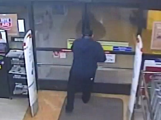 Authorities were asking for the public's help in identifying a person suspected of robbing a Camarillo drugstore.