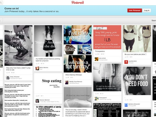 Pinterest eating disorders