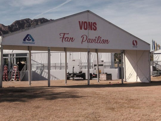 The Vons Fan Pavilion will be new this year to the CareerBuilder Challenge. Fans can pickup food from this area near the 18th green.