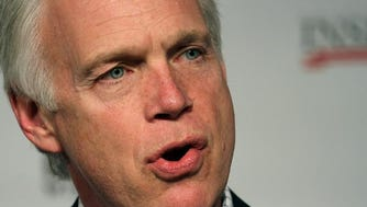 US Sen. Ron Johnson speaks during an interview with WTMJ talk show host Charlie Sykes at the Country Springs Hotel in Waukesha Wednesday, March 23, 2016.