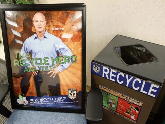 The Fort Bliss Recycling Program uses the Recycle Hero campaign to encourage recycling.