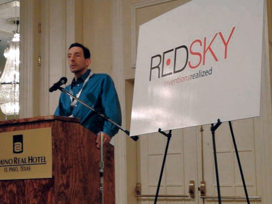 Albert Di Rienzo unveils the new RedSky biomedical institute name at a 2013 conference. He left his position as RedSky president last month for unspecified reasons.
