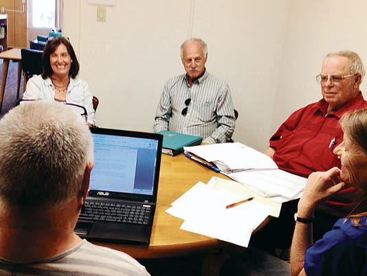 The Silver City Public Library Board discusses the Summer Reading Program during the board meeting on Thursday. Randal Seyler - Sun-News