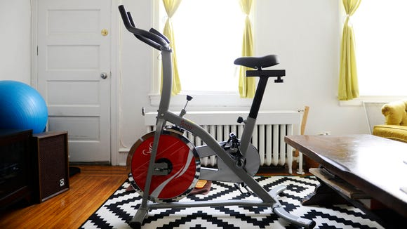 This stationary bike saved my sanity when this weekend's storm blew up my running schedule.